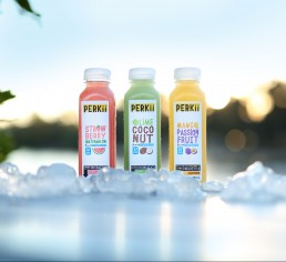 PERKii probiotic drink made using UQ's ProGel technology.